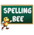 Spelling bee vector image