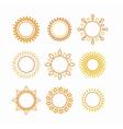 Sun set outline icon vector image