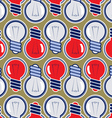bulb lamp background pattern vector image vector image