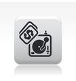 dj cost icon vector image vector image