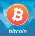 Bitcoin blockchain criptocurrency orange logo vector image