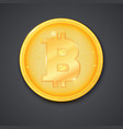 coin of virtual currency bitcoin with shadow icon vector image