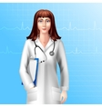 Female Doctor Character vector image