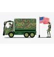Military Trucks vector image
