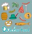 oktoberfest national german festival sticker of a vector image