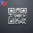 Qr code icon symbol 3D style Trendy modern design vector image