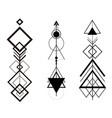 tribal hipster geometric arrows set vector image
