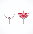 Wine love vector image