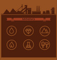 mining icons 001 02 vector image