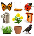 spring season icons vector image