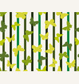 seamless stripe pattern with butterflies summer vector image vector image