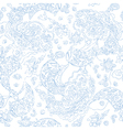 Paisley lace seamless pattern vector image vector image