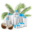 coconut cosmetics vector image