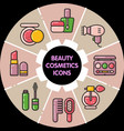 infographic set of beauty cosmetic icons vector image