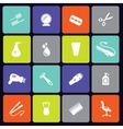 Hair salon icons square vector image