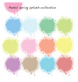 pastel splash collection vector image