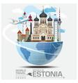 Estonia Landmark Global Travel And Journey vector image