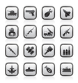 weapon and arms Icons vector image vector image