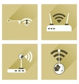 Concept of flat icons with long shadow Wi-Fi vector image