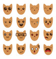 a set of emoticons emoticons emoji cat vector image