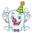 clown skull character cartoon style vector image