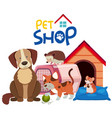 cute pets by the pethouse vector image