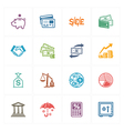 Finance Icons - Colored Series vector image