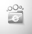 gear folder vector image