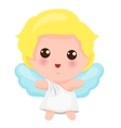 Of Cute Little Angel vector image