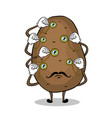 potato and monoculars pop art vector image