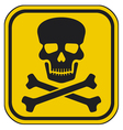 skull danger sign-warning sign vector image vector image