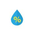 drip flat icon symbol premium quality isolated vector image