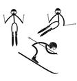 Alpine skiing vector image