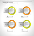 Business infographics elements design template vector image