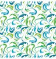 seamless background with colorful plants vector image vector image