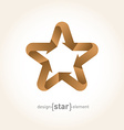 Origami Star with arrows from old paper vector image