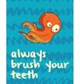 Octopus print in cartoon style Always brush your vector image