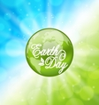 Glowing Bright Background for Earth Day Holiday vector image vector image
