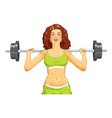 Girl doing fitness exercise vector image