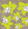 Seamless floral pattern fantasy blooming green vector image