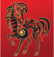 Chinese horoscope year of the horse vector