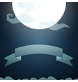 full moon in the sky vector image