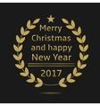 Merry Christmas 2017 vector image