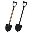 a shovel vector image vector image