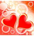 Hearts Shiny Holiday Background vector image vector image