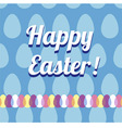 Happy Easter Card and Seamless Pattern vector image vector image
