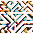 bright geometric seamless pattern vector image