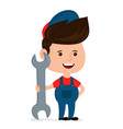 cute happy smiling young service man vector image