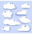 Paper Speech Bubble Cloud sticker vector image