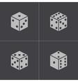 black castle icons set vector image